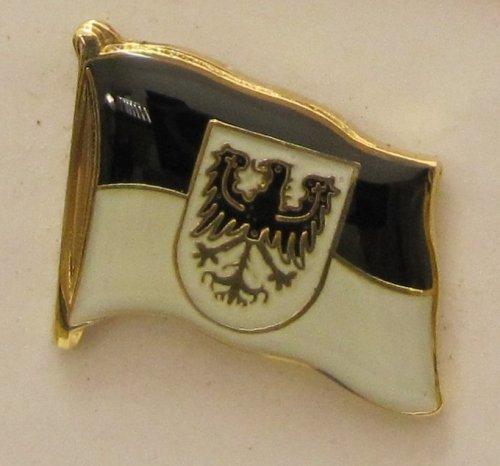 Pin Anstecker Flagge Fahne Ostpreussen Ost Preußen Adler Wappen Flaggenpin Badge Button Flaggen Clip Anstecknadel