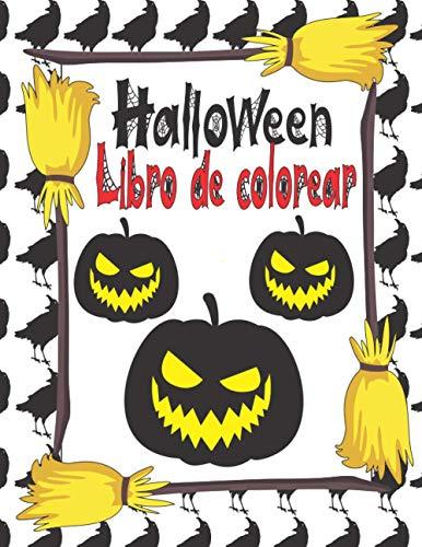 Libro de colorear de Halloween: Para niños de 2 a 12 años y niños pequeños - Color los fantasmas, calabazas, murciélagos, espantapájaros y vampiros - ... para niños - Libros de Halloween para niños