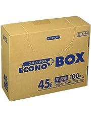 サニパック E-44エコノプラスBOX45L半透明 100枚 E44HCL