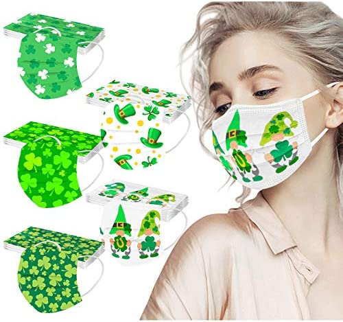 St Patrick Day Disposable Face Masks Face Bandanas Facecover Facial Covering for Adult with product image