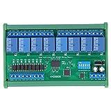 Placa de relé, N4D8B08-R 8 entradas 8 Salidas, relé RS485, protocolo Modbus RTU, Carcasa de Carril DIN35, Placa de expansión PLC 24v, Placa de Control del módulo de relé