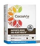 CocoaVia Heart & Brain Supplement, Sweetened Dark Chocolate Flavor, Drink Mix l Vegan and Plant Based l Cocoa Flavanol Supplement for Improved Cognitive Function and Heart Health l 30 Servings