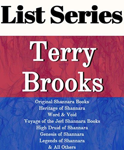 TERRY BROOKS: SERIES READING ORDER: ORIGINAL SHANNARA BOOKS, HERITAGE OF SHANNARA, WORD & VOID BOOKS, VOYAGE OF THE JERL OF SHANNARA, HIGH DRUID OF SHANNARA, GENESIS BY TERRY BROOKS (English Edition)