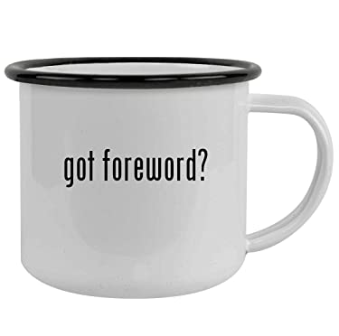 got foreword? - Sturdy 12oz Stainless Steel Camping Mug, Black