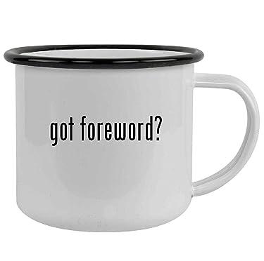 got foreword? - Sturdy 12oz Stainless Steel Camping Mug, Black