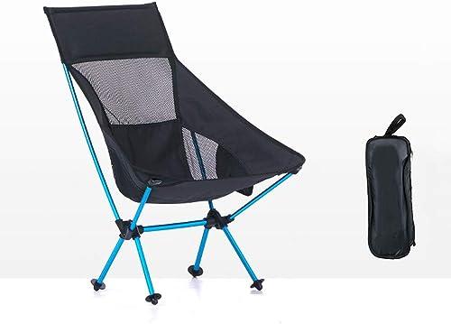 Htreh Chaise De Camping Pliante portable Léger Pliant Sac a Dos Chaise Loisirs Tabouret De Plage Chaise Sieste + Pause Déjeuner en Plein Air (Couleur  2 Taille  41.5cmX31cmX80cm) (Couleur   noir)