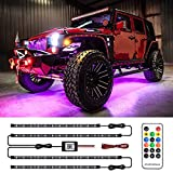 MustWin Car Underglow Neon Accent Lights Dreamcolor Waterproof Exterior Car Strip Lights with APP & RF Control 16 Million Colors Sync to Music DC 12V for Car Jeep Truck SUV Off Road Boat