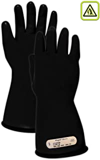 Magid Glove & Safety M0011B95 A.R.C. M00 Class 00 Rubber Electrical Insulating Gloves, Black, 9.5 (1 Pair)