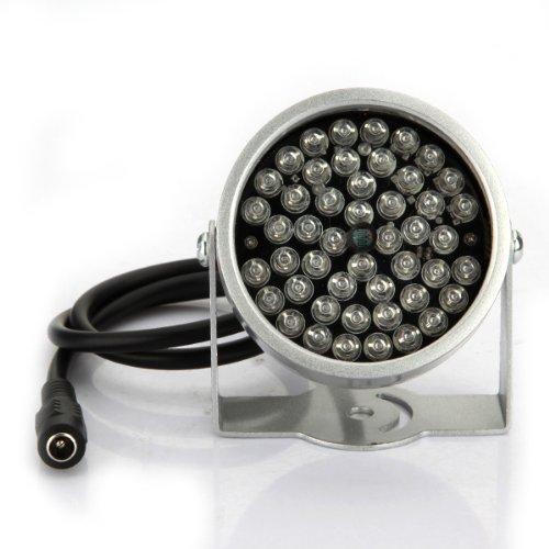 BW 2 x 48 Cámara de seguridad con LED IR iluminador y lámpara infrarroja CCTV y con visión nocturna