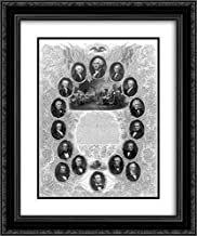The Unanimous Declaration of The Thirteen United States of America 18x24 Double Matted Black Ornate Framed Art Print