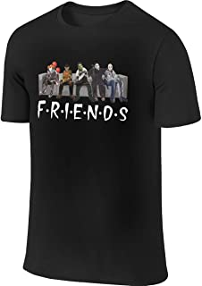 Friends Halloween Michael Jason Penny Leisure Running Black Shirts