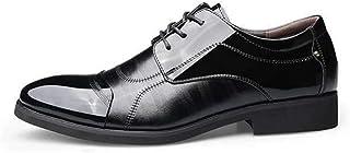 XIGUAFR Homme Chaussure de Mariage d'uniforme Habillée en Cuir Pointue de Grande Taille Chaussure a Lacet d'affaire Commer...