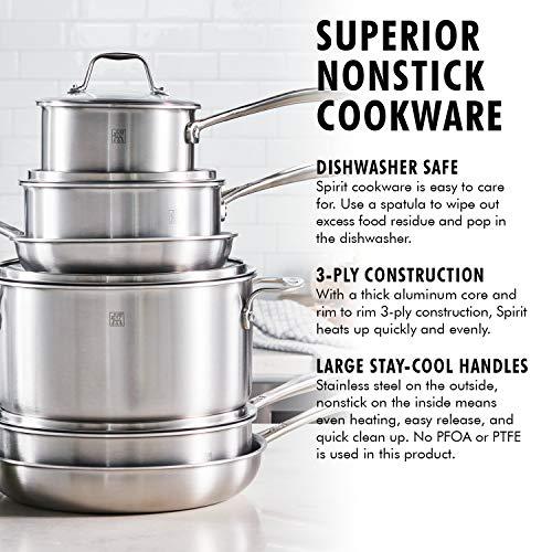 ZWILLING Spirit Ceramic Nonstick 10-pc cookware set, Stainless Steel