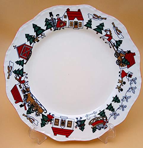 Cerámica Plato Vajillas British Christmas Christmas Rectangular Sandwich Dian Xin Sartén Juegos De VajillaCuenco En Forma De Flor, 10.5 Pulgadas