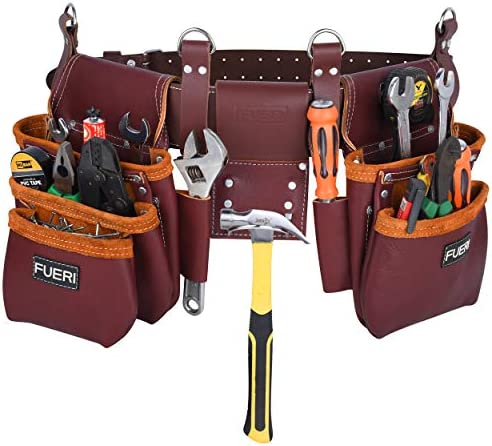 fueri Carpenter Tool Belt framer s combo Tool Pouch Carpenter Tool Rig Tool Holder Work Organizer product image