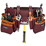 Tool Pouch Framers Combo Tool Bag Tool Kit | Heavy Duty Pro Gauge Leather, Rig Riveted Reinforcement Organizer Tool Holder | Tool Organizer Drill Holster Multipurpose 17 Pocket (Excluding Tools)