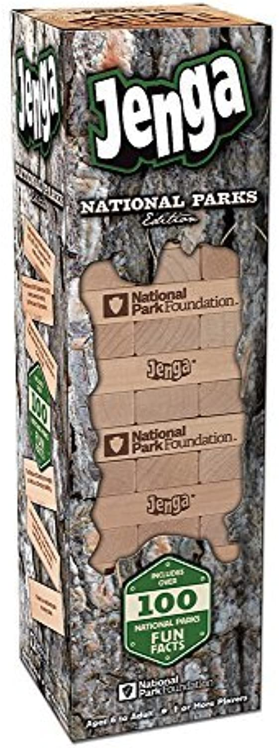 National Parks Edition Jenga Action Game by USAopoly