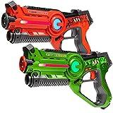 Light Battle Active Lasertag Set - 2X Laserpistole (grün, orange) - LBAP10212D