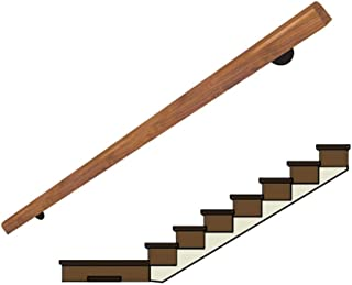 Handrail Solid Wood Stair Railing 30cm-300cm, Guardrail Corridor Against The Wall Old Man Handle Villa Building Loft Children Pine Handrail