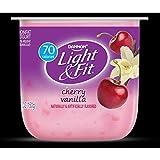 Light and Fit Cherry Vanilla Yogurt, 5.3 Ounce -- 12 per case.