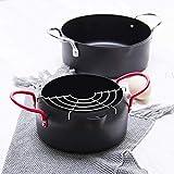 1yess Contenedor de Aceite Frito Utensilios de Cocina Conjunto Multi-El tamaño del hogar sartén Pot Utensilios de Cocina, Amarillo (Color : Red)