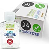 Hand Sanitizer Gel (24 Pack - 2oz Bottle) - 75% Alcohol - Kills 99.99% of Germs - Scent Free Antibacterial Gel with Vitamin E & Aloe for Moisturizing in Mini 2 Ounce Bottles