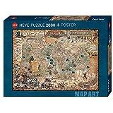 Heye 29847 Pirate World Standart 2000 Teile, Map Art, inkl. Poster, Green