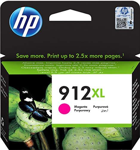HP 912XL, 3YL82AE, Cartuccia Originale ad Alta Capacità da 825 Pagine, Compatibile con Stampanti a Getto di Inchiostro OfficeJet Pro Serie 8010 e 8020, Magenta