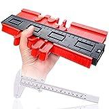 Astarye Medidor de contorno Medidor de perfil de 10 pulgadas Regla de medición de plástico Medidor de duplicación de contorno Marco circular para medición