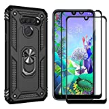 Dedux Stand Case + [2 Pieces] Screen Protector for LG Q60,