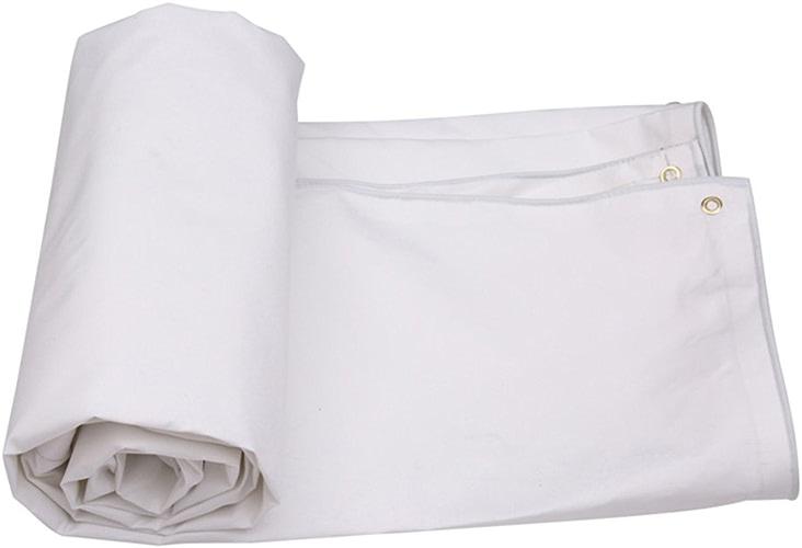 Bache YNN étanchéité à l'eau Blanche 500g m2 (épaisseur 0.5MM) de Tissu de Pluie de Tissu imperméable de extérieure étanche (Taille   6  4m)