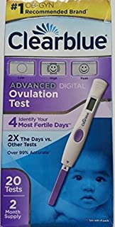 Clearblue Advanced Digital Ovulation Test 20 Count 4 Most Likely Days