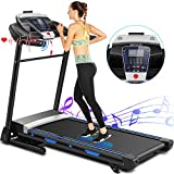 ANCHEER Treadmill for Home, 3.25Hp App Control Electric Folding Treadmills,Exercise Machine with Automatic Incline,Running Walking Machine for Office/Gym Cardio Use
