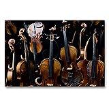 Calvendo Premium Textil-Leinwand 90 cm x 60 cm Quer Violina diabolo | Wandbild, Bild auf Keilrahmen, Fertigbild auf Echter Leinwand, Leinwanddruck