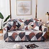 MKQB Funda de sofá con Estampado Floral, Funda de sofá elástica para Sala de Estar, Funda de sofá Antideslizante de Esquina de combinación Moderna NO.4 2seat-M- (145-185cm