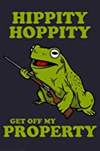 Hippity Hoppity Get Off My Property Funny Laminated Dry Erase Sign Poster 12x18