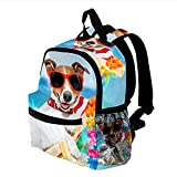 HEOH Llevar mochila con estilo Tumbona roja de lujo relajante para perros