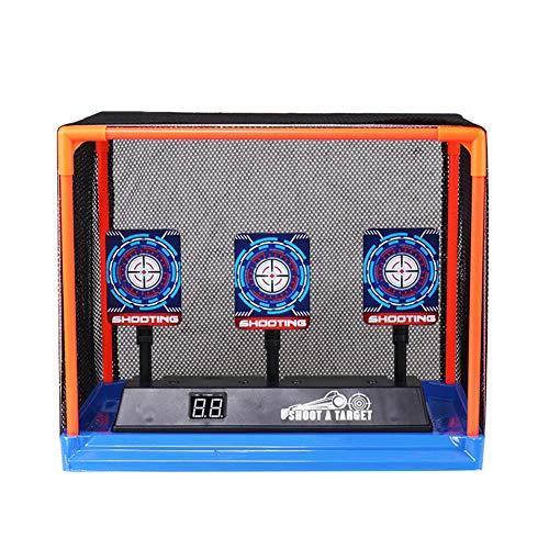 Morningtime Zielscheibe Nerf Elektronisch Kinder Elektrische Zielerfassung Automatische Wiederherstellung Zubehör für Nerf Soft Bullets Schießspiele mit Soundeffekten und Spiellicht