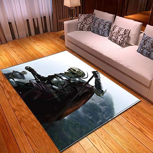 LGXINGLIyidian Casa Alfombra Serie Clásica De Calaveras De Demonio De La Parca Alfombra Suave Antideslizante De Decoración del Hogar De Impresión 3D T-1100K 100X150Cm