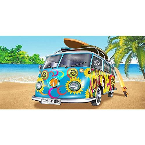 Geezy, großes Mikrofaser-Strand-Badetuch, leicht, Sport, Reisen, Fitnessstudio, Sommer-Handtücher Wohnmobil (blau)
