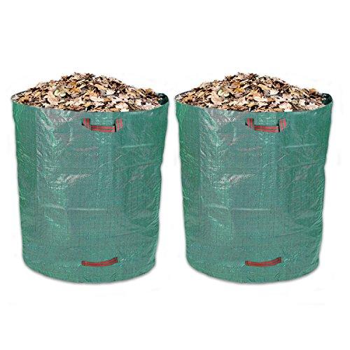 Schramm® 2 Stück Gartensäcke 500L Grün Polypropylen Gewebe PP Gartensack Garten Sack Säcke Big Bag