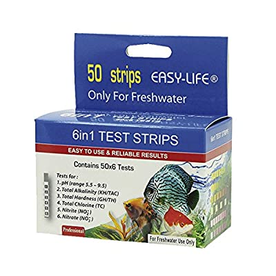 Easy Life Test Strips 6 in 1, 50 Teststreifen für pH, KH, GH, CI, NO2, NO3