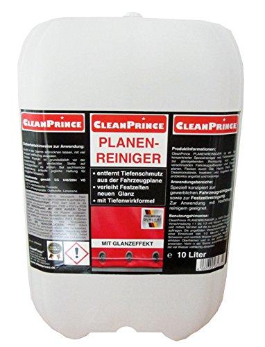 10 Liter Kanister CleanPrince Planenreiniger - Reiniger für Sprühreiniger & Hochdruckreiniger für LKW, Bus, Baufahrzeuge, Speditionen, Fuhrparks, Busunternehmen Reinigungsmittel Planenreinigung