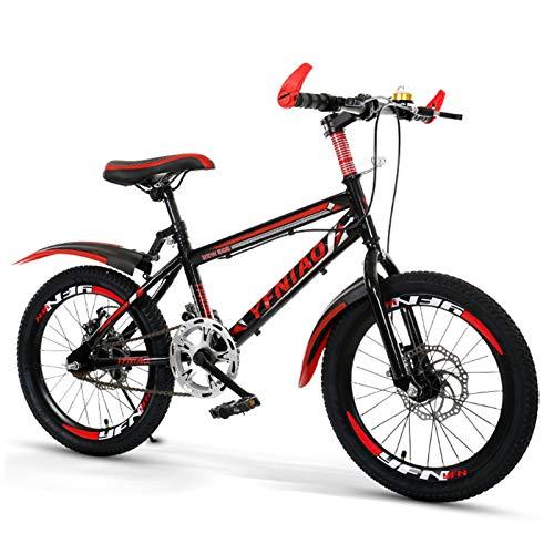 Primlisa Kinderfahrrad Mountainbike | 18 Zoll Kinderrad Classic Für Kinder Mädchen Und Jungen | Kinderrad MTB Mit Autoglocke, Wasserflasche, Fahrradkorb, Rücksitz