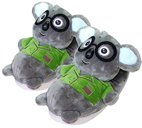 Zapatilla Unisex para Animales Adultos, Zapatillas de Invierno Elefante cálido/Jirafa/Koala/Hámster/Conejo, Zapatos de Felpa casera de Dibujos Animados (35/38 EU,Koala)