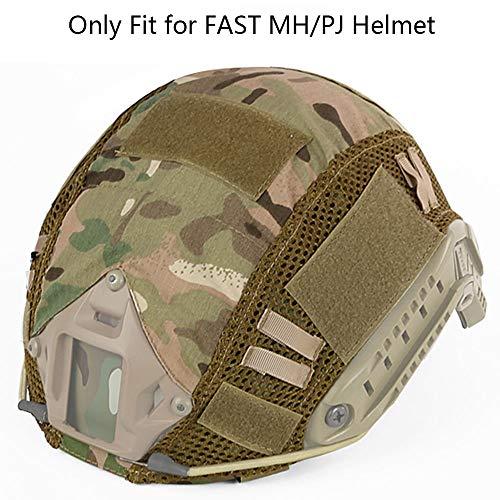 Funda táctica para casco Multicam, funda militar rápida para casco FAST MH/PJ (sin casco) (CP)