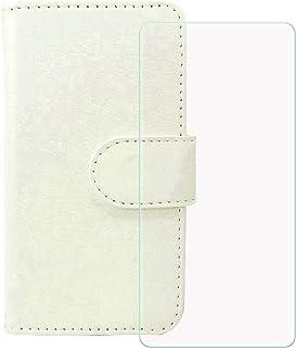 YZKJ Cover för HTC Desire 19s (6,2 tum) skal pansarglas skyddsfilm, flip PU läderskydd mobilfodral plånbok väska med kortp...