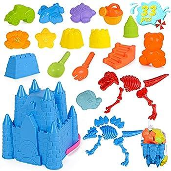 33-Pieces DANSIOYE Beach Toys
