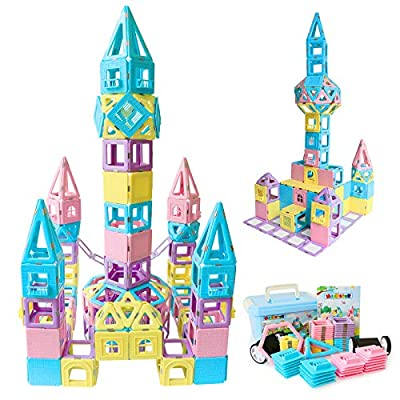 MAGBLOCK Magnetic Building Blocks STEM Educational Toys Tiles Set for Boys & Girls Magnet Stacking Block Sets for Kid's Basic Skills Learning & Development Toys-Great Gifts 103PCS from Maige