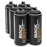Montana Black 6x 400ml Black Sprühdosen Pack